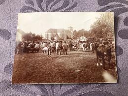 PHOTO ANCIENNE 1904 / FILLINGES En HAUTE SAVOIE 74 - SCENE DE FOIRE - Antiche (ante 1900)