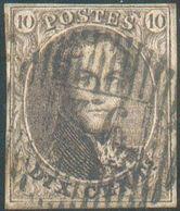 N°10A - Médaillon 10 Centimes Brun-FONCE, Très Bien Margé Etoblitération Idéalement Apposée.D 36 - Anthée, -TB - 15743 - 1858-1862 Médaillons (9/12)