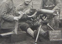 Photo ABL 1920 Mitrailleuse 15ème Rgt Ligne IIème Bon 12ème Cie Adelin Brasseur De Vedrin Les Comognes Namur - Guerre, Militaire