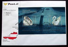 Austria 2004 Swarovski Crystal Worlds Minr.2495-96 FDC   ( Lot  799) - FDC