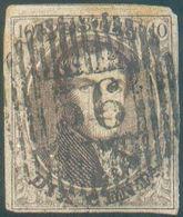 N°10A Médaillon 10 Centimes Brun, TB Margé EtSplendide FrappeD 56 - Comblain-Au-Pont. COBA 30€ + -Superbe - 15750 - 1858-1862 Médaillons (9/12)