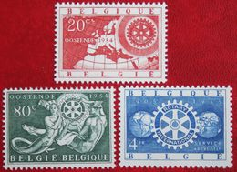 Rotary International EUROPA 1954 OBP 952-954 (Mi 1001-1003) POSTFRIS/MNH ** BELGIE BELGIUM - Unused Stamps