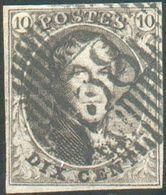 N°6 Médaillon 10 Centimes Brun, TB Margé EtFrappe Idéalement ApposéeD 58 - Waterloo. -TTB- 15752 - 1851-1857 Médaillons (6/8)