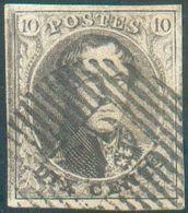 N°6 Médaillon 10 Centimes Brun, Marges Maxima,belle Fraîcheur, Obl.D 65 - Warnant-Dreye. COBA 30€ -Superbe- 15753 - 1851-1857 Médaillons (6/8)