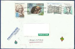 FRANCE POSTAL USED AIRMAIL COVER TO PAKISTAN - Airmail