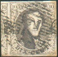 N°6 Médaillon 10 Centimes Brun, TB Margé Et Grand Voisin Obl. D 72 - Capellen.Belle Frappe. -TB- 15754 - 1851-1857 Médaillons (6/8)