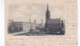 4812714Gruss Aus Neisse, Berliner Neissebrücke, Kutzenstr. Und Evgl. Garnisonkirche. – 1898. (Karte Aus Dem Album.) - Pologne