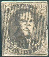 N°6-14 Médaillons 10 Centimes Dent. Et Non Dentelé (très Bien Margé) Avec 2 Types D'oblitérations D 75 - Annevoie,  - Belgique