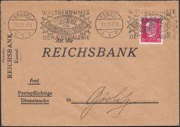 Germany - Reichbank Brief, Weltberühmte Gemäldegalerie Kassel Die Kongress-Stadt 19.12.1928. - Lettres & Documents