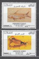 Libano - Correo Yvert 383/4 ** Mnh  F�siles - Liban