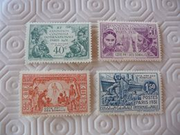 TIMBRES   COTE  DES  SOMALIS   SERIE   N  137  A  140       COTE  33,00  EUROS  NEUFS  TRACE  CHARNIÈRES - Côte Française Des Somalis (1894-1967)