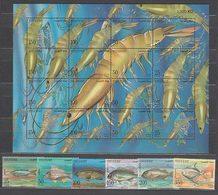 Kuwait - Correo 1997 Yvert 1415/20+H.13 ** Mnh  Fauna Marina - Kuwait