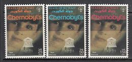 Kuwait - Correo 1998 Yvert 1473/5 ** Mnh  Chernobil - Koeweit