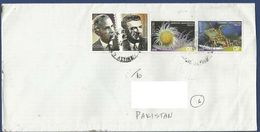 GREECE POSTAL USED AIRMAIL COVER TO PAKISTAN INSECT INSECTS - Airmail