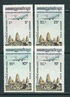 Kampuchea - Aereo Yvert 32/5 ** Mnh  Templo De Angkor - Kampuchea