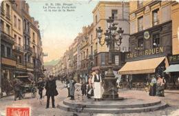 Dieppe - Animée, Place Du Puits-Salé Et Rue De La Barre - Dieppe