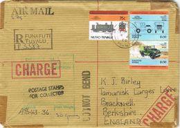 36813. Carta Aerea Certificada FUNAFUTI (Tuvalu) 1986. Stamp TAXE. Aduana. Douane. Customs - Tuvalu