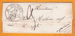 1838 Lettre Pliée Avec Correspondance De Bagnols, Gard Grand Cachet Fleurons Vers Apt, Vaucluse - 1801-1848: Voorlopers XIX