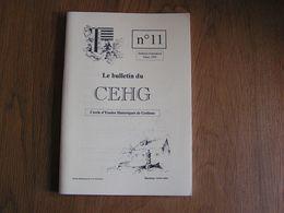 CEHG Revue N° 11 Gedinne Régionalisme Ardenne Guerre 14 18 Baijot Louette St Pierre Bourseigne Neuve Maquis Résistance - Belgium