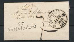 1835 Lettre Cursive 67 Sultz-la-Forêt + CAD T12 HAGUENAU BAS-RHIN(67) SUP P1596 - 1801-1848: Precursores XIX
