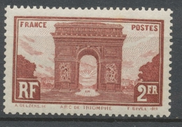 1929-31 N°258 2f Brun-rouge Arc De Triomphe Cote 95€ Neuf Luxe ** TB P2177 - Nuevos