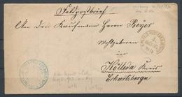 1870 Lettre Soldat De Taverny CAD K.PR.FELD.POST EXR.D.RESERVE 4 ARMEE OPS P2945 - Marcofilia (sobres)