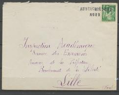 1940 Lettre Avec Cachet De Fortune AUBERCHICOURT Pour Lille P2998 - 1877-1920: Periodo Semi Moderno