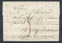 1811 Lettre Marque 72 POISSY 23x9 Noir SEINE - 1801-1848: Precursors XIX