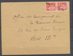 Lettre Avec Cachet Linéaire Provisoire LIGNY-St-FLOCHEL 62 - PAS DE CALAIS P3757 - Guerra De 1939-45