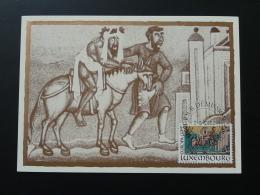 Carte Maximum Card Cheval Horse Medieval Europa Luxembourg 1983 - Cartes Maximum
