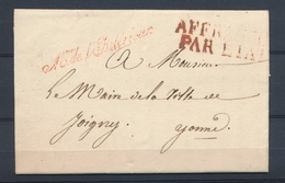 1830 Lettre En Franchise Griffe Mtre De L'intérieur + Affranchi Par ETAT P4112 - Postmark Collection (Covers)
