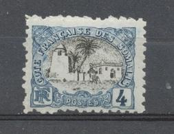 Colonie COTES DE SOMALIS N°55 4c Bleu Et Noir ERREUR DE COULEUR. P4502 - Côte Française Des Somalis (1894-1967)