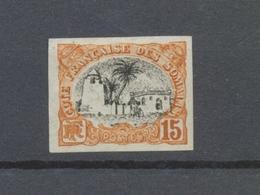 TIMBRE COLONIE COTE DES SOMALIS ESSAI Ou N°38 15c Orange Non Dentelé P4788 - Côte Française Des Somalis (1894-1967)