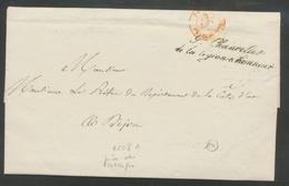 1842 Lettre Marque Grand Chancelier De La Légion D'Honneur CAD Paris Rge P503 - Postmark Collection (Covers)