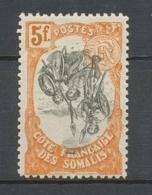 Colonies Cote Des Somalis N°66 C 5f Orange Et Noir Centre Renversé. Neuf * P5153 - Côte Française Des Somalis (1894-1967)