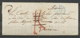 """1836 Lettre Franchise Taxé Puis """"à Détaxer"""", Mention Au Dos. P5181 - Postmark Collection (Covers)"""