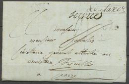 """1807 Lettre Franchise Taxé Puis """"à Détaxer"""" + Griffe Service P5182 - Postmark Collection (Covers)"""
