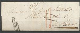 """1837 Lettre Taxée 11 Puis Franchise """"à Détaxer"""" + Marque De Vérification P5189 - Postmark Collection (Covers)"""