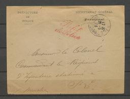 1903 Enveloppe En Franchise Griffe Rouge Préfet De Police. P5198 - Postmark Collection (Covers)