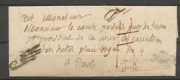 1835 Lettre En Franchise Taxée + Griffe De Vérification : à Détaxer. P5206 - Postmark Collection (Covers)