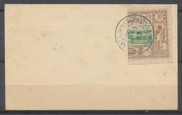 COTE DES SOMALIS N°10A Coupé Sur Enveloppe Obl SIGNE CALVES P930 - Côte Française Des Somalis (1894-1967)