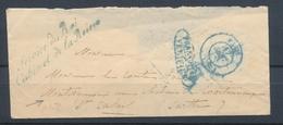 Enveloppe En Franchise Griffe Bleue Service Du Roi Cabinet De La Reine X1045 - Postmark Collection (Covers)