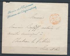 1858 Franchise Griffe Bl. Service De L'empereur (Maison De L'impératice) X1036 - Postmark Collection (Covers)