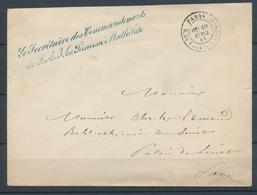 1865 Env. Franchise Griffe BL. Le Secrétaire Des Commandements De S.A.I … X1047 - Postmark Collection (Covers)