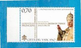 (Ni) Vaticano ** - 2014 - CANONIZZAZIONE Di PAPA GIOVANNI XXIII. MNH - Vatican