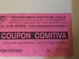 Ticket Embarquement Pour Portofino - Schiffstickets