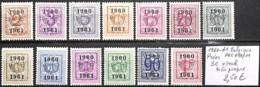 D - [849285]TB//*/Mh-Belgique 1960-61 - PRE699/011, Série Complète, */mh Très Propre - Préoblitérés