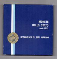 San Marino - 1972 -Serie Divisionale (7 Monete + 500 Argento) + Serie Filatelica - Con Custodia E Garanzia - (FDC22641) - Saint-Marin