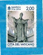 (Ni) Vaticano ** - 2014 - San  PIO X. MNH - Vatican