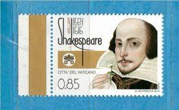 (Ni) Vaticano ** - 2014 -  WILLIAM SHAKESPEARE. MNH - Vatican